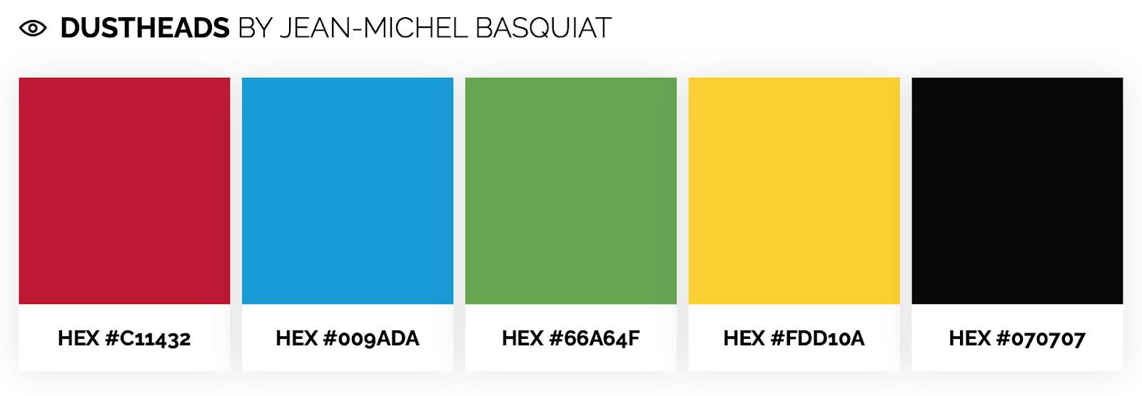 bright color palette inspired by Jean-Michel Basquiat