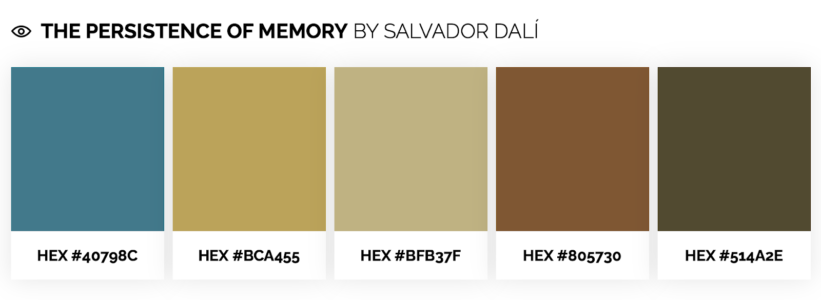 Earth tone color palette inspired by Salvador Dali