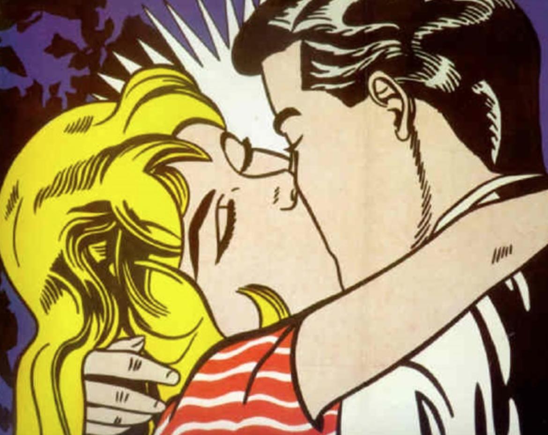 The Kiss by Roy Lichtenstein