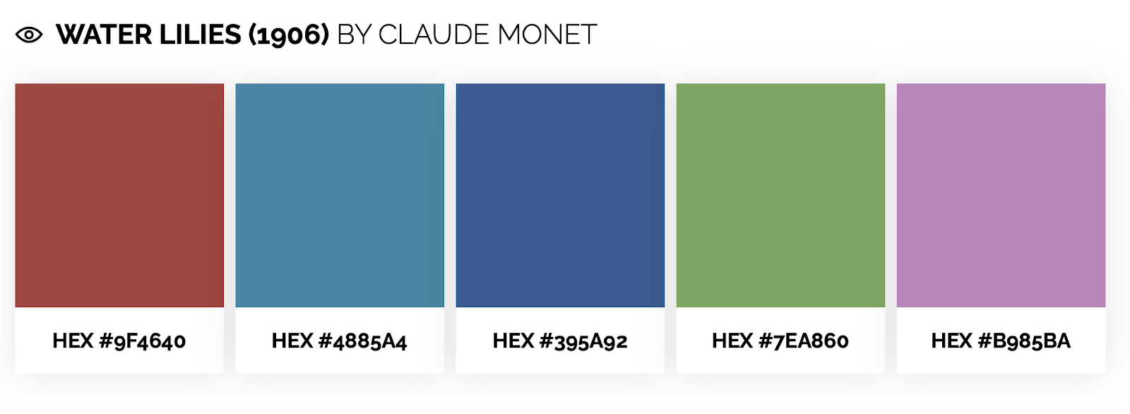 cool color palette inspired by claude monet