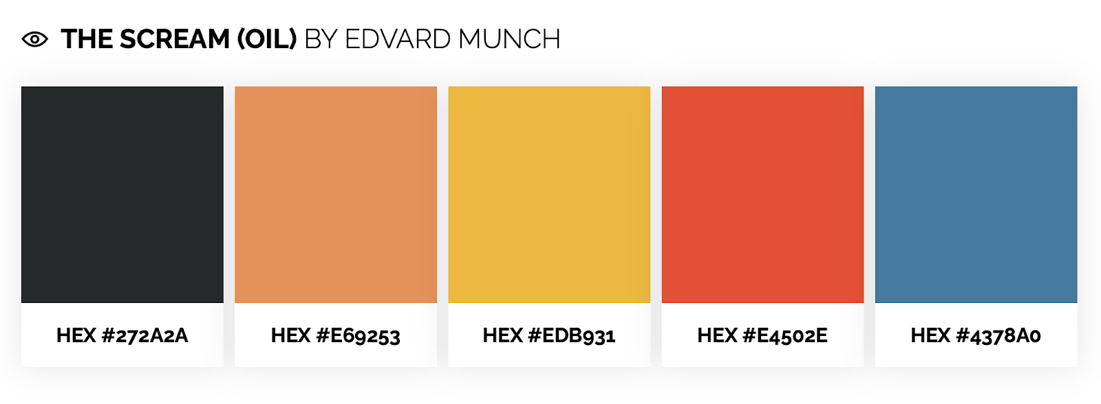 dramatic color palette inspired by edvard munch