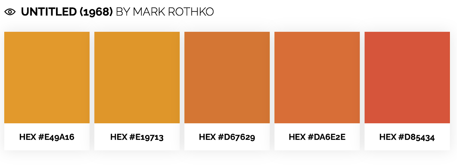 warm color palette inspired by mark rothko