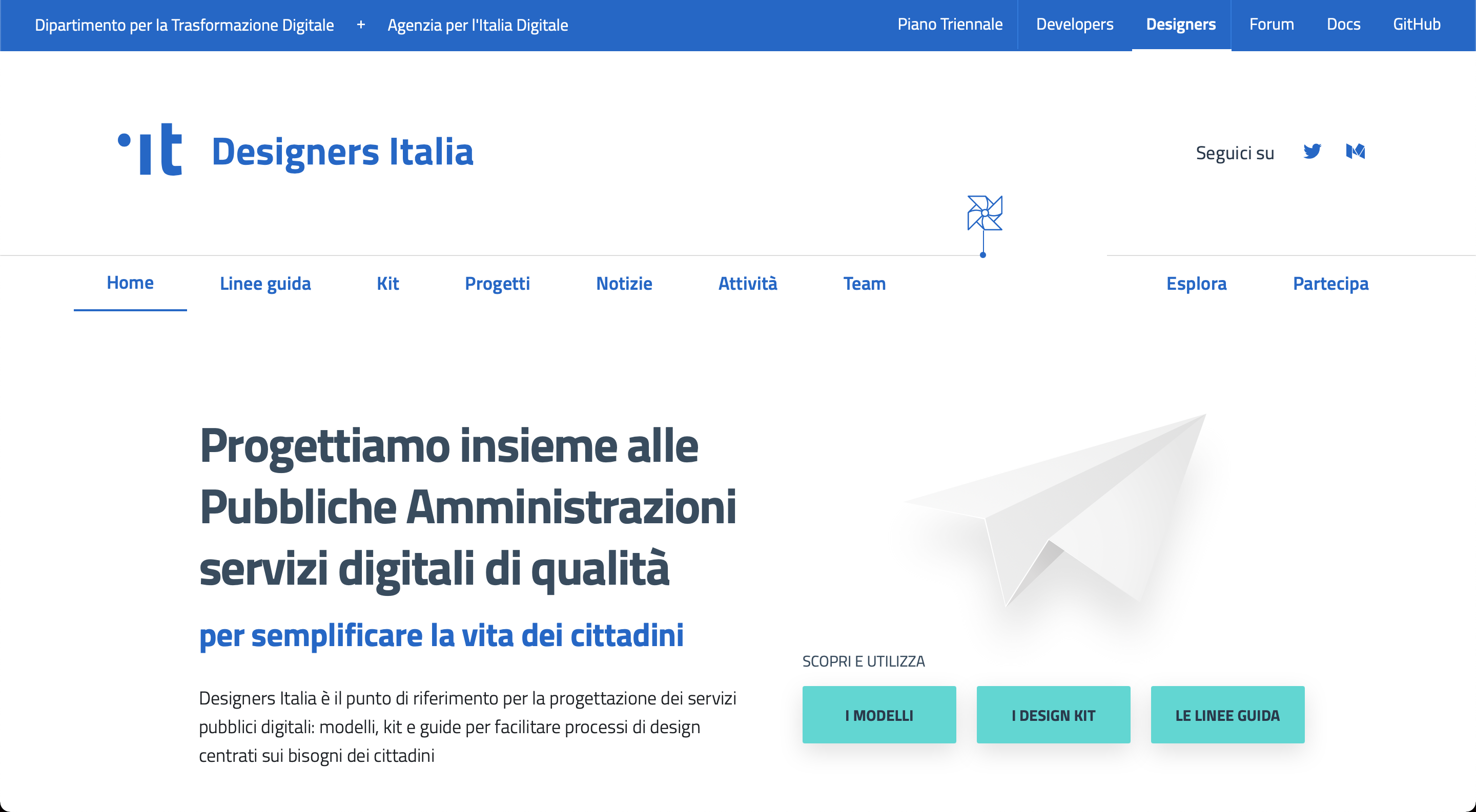 Italian Public Administration .it Designers Italy Design System webpage