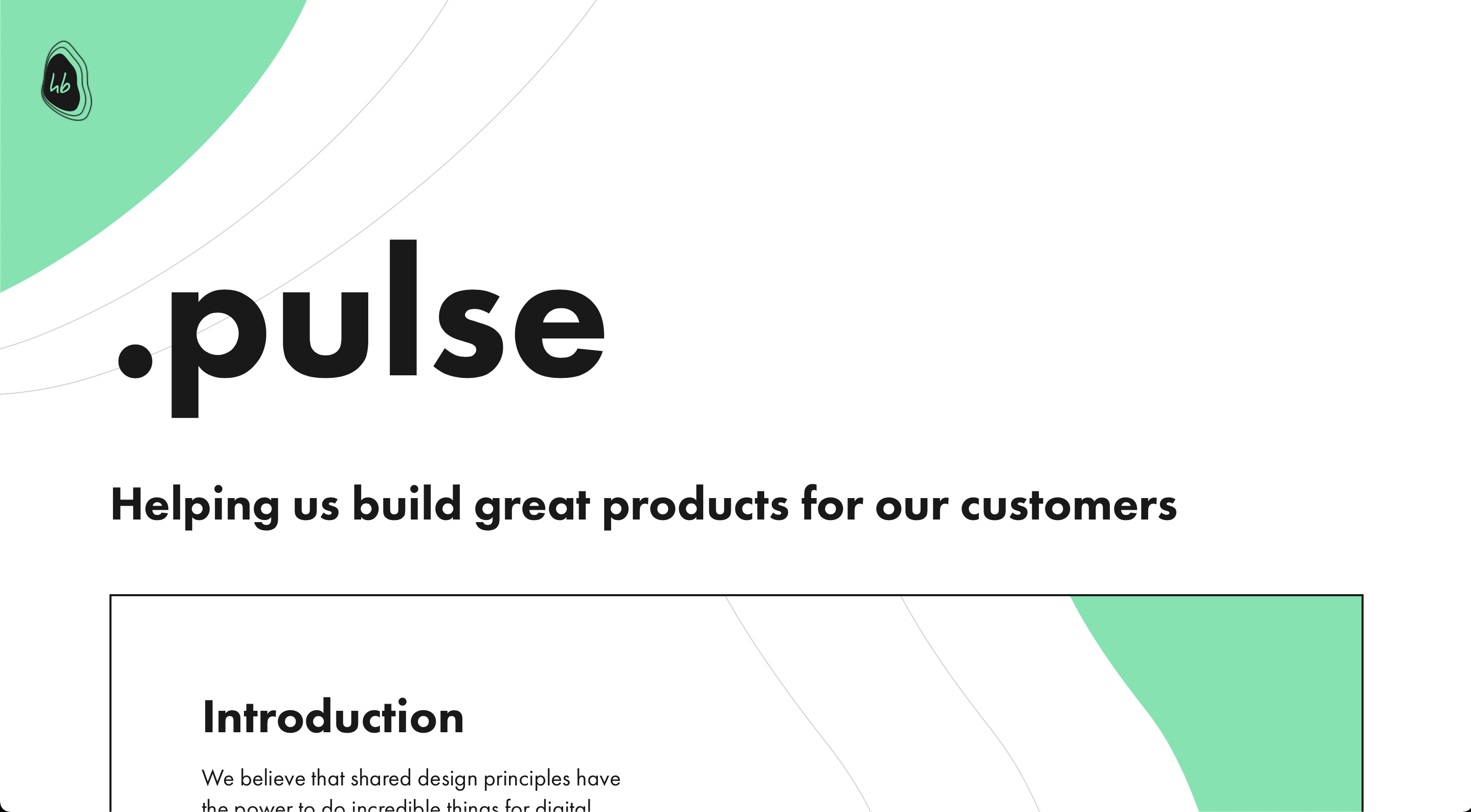 Heartbeat Pulse design system webpage