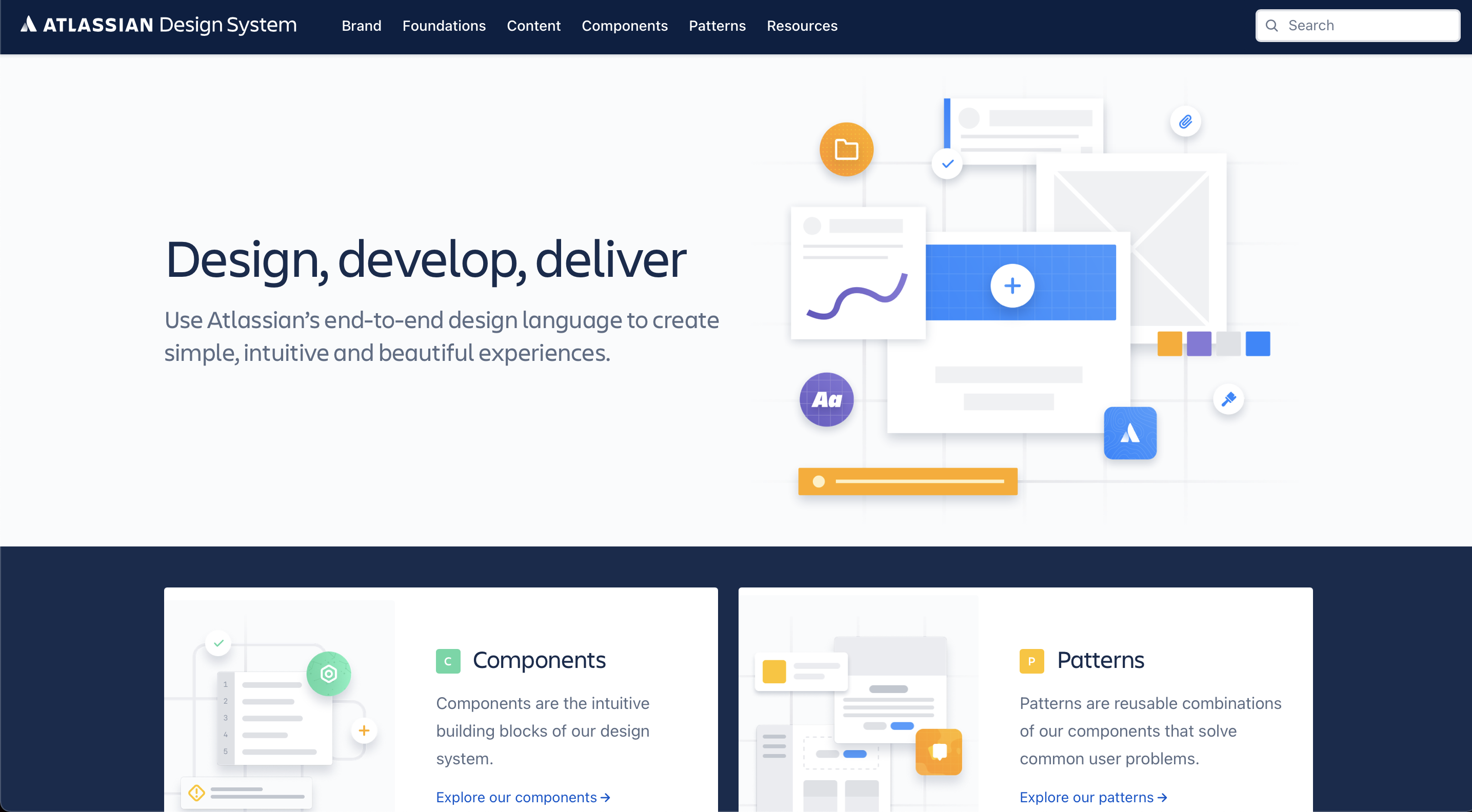 Atlassian Design Language Design System website