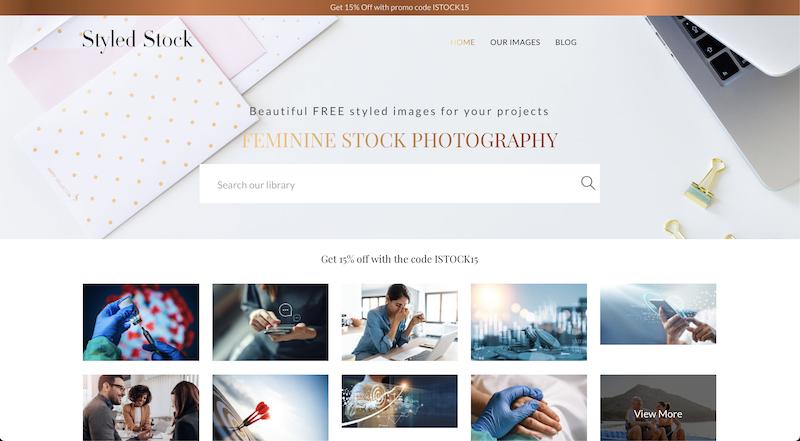 styled stock photo stock website