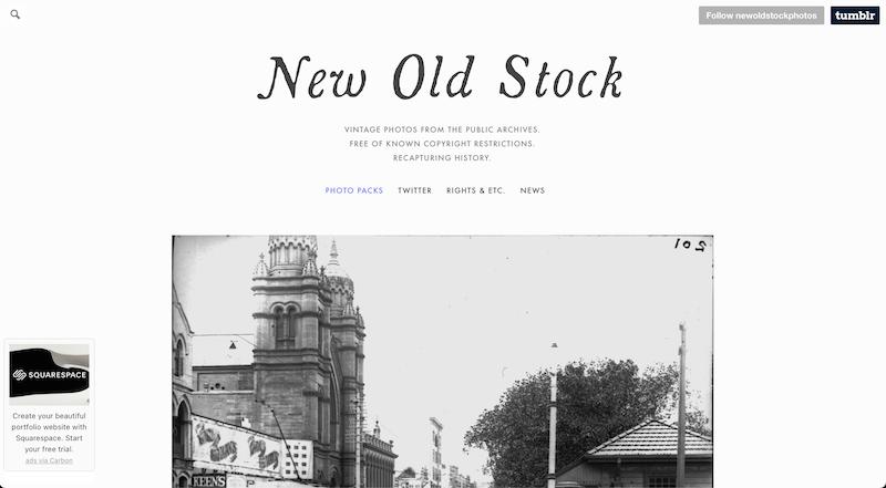 new old stock photo stock website