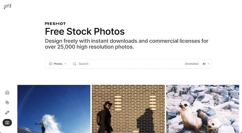 reshot photo stock website
