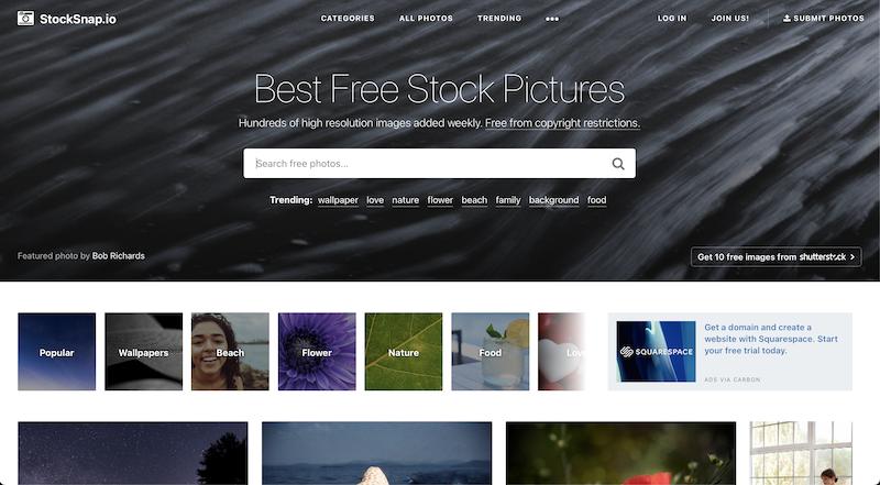 stocksnap photo stock website