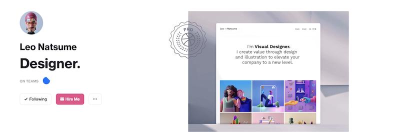 Leo Natsume design portfolio on Dribbble