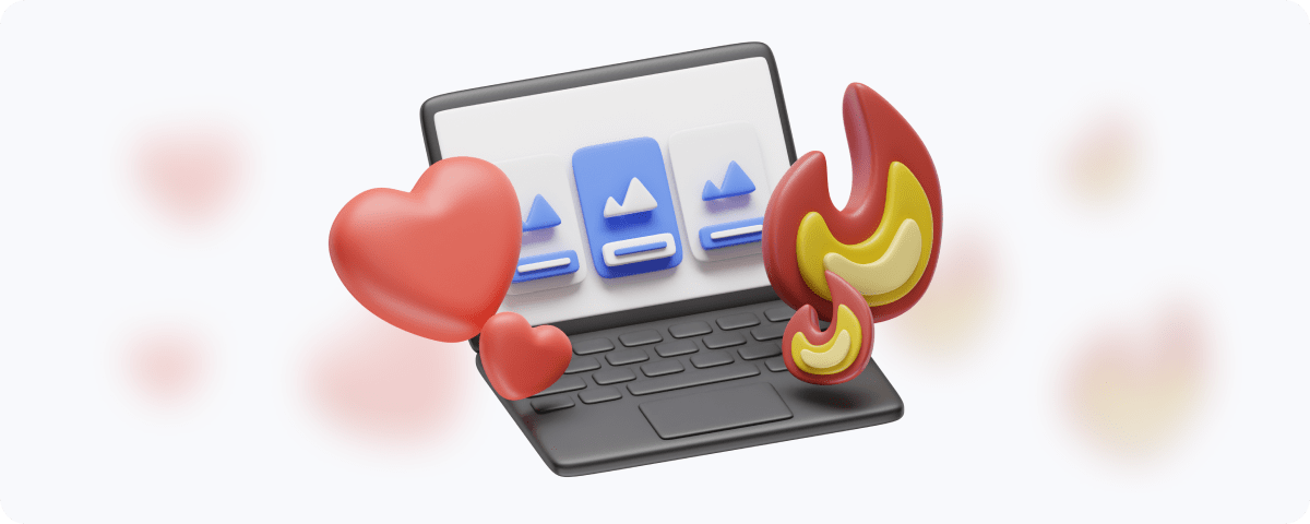 designbuddy MacBook with red heart and red flame