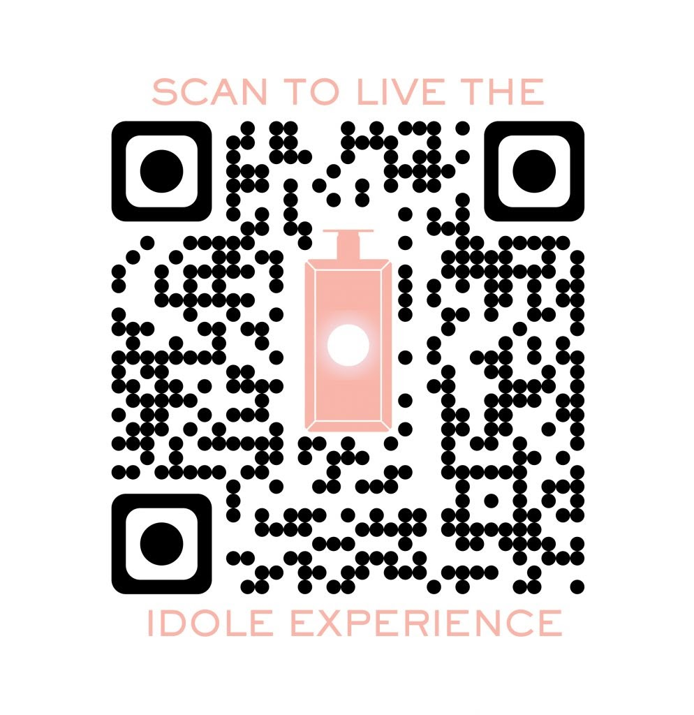 Customised QR code for Lancome perfume advertisement