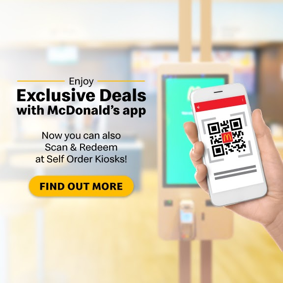 McDonald's app with QR codes for exclusive deals