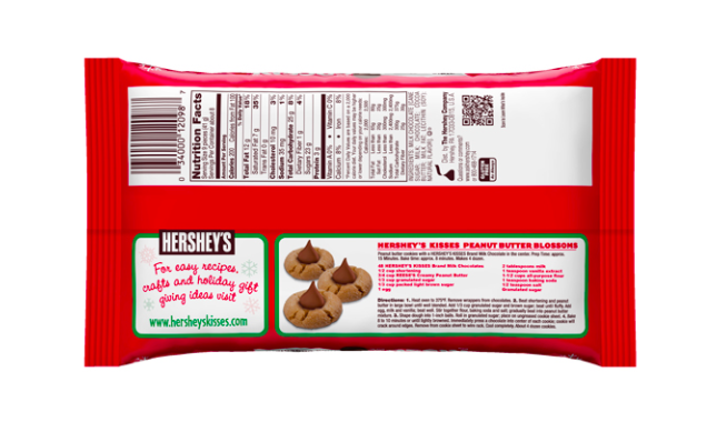 a small qr code on hershey-s peanut butter cookies packaging