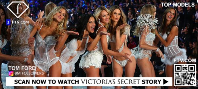 qr code TV advert to watch victoria's secret fashion show