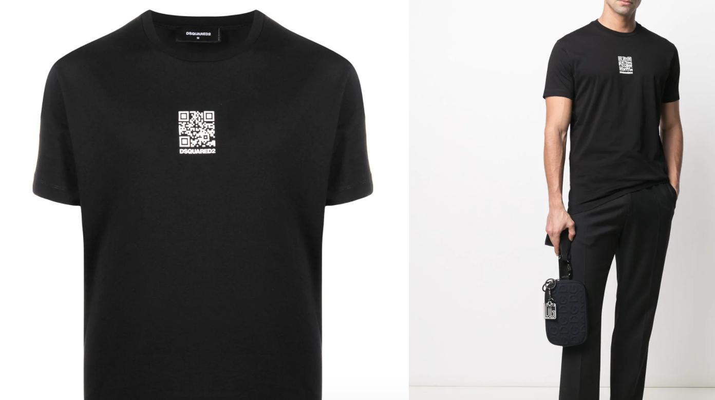 qr-code-black-dsquared2-tshirt