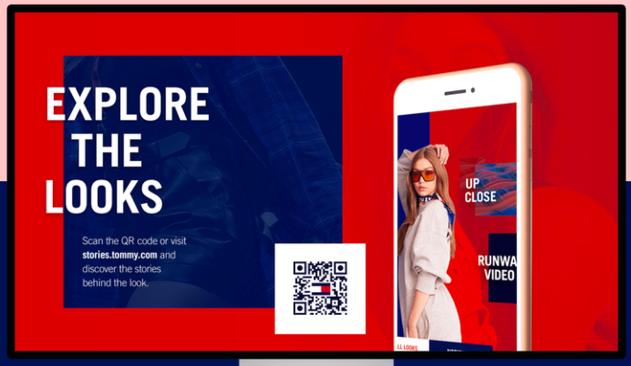 Explore the looks Tommy Hilfiger campaign for their app with qr code
