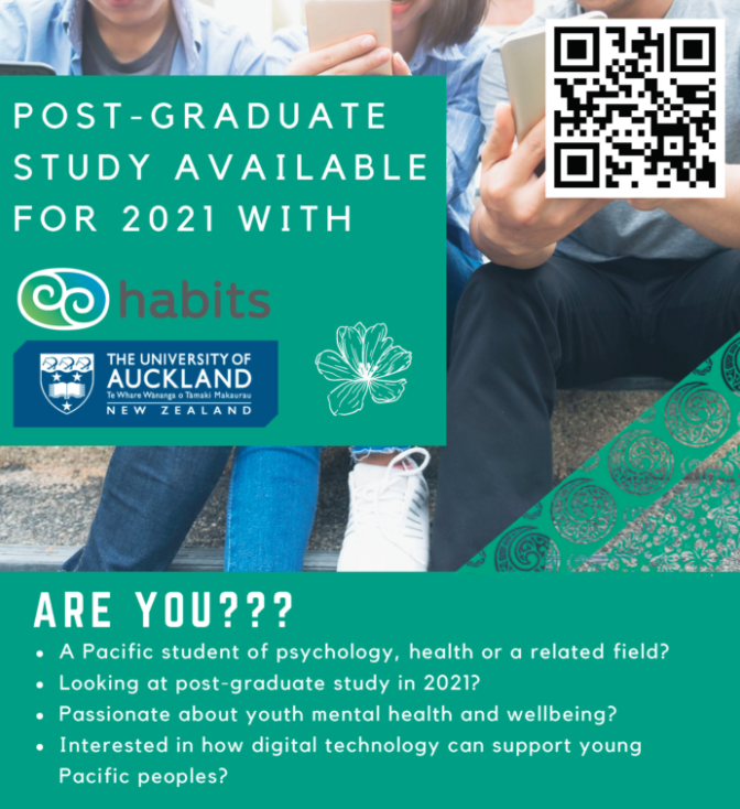 university of auckland flyer with qr code for post graduate studies