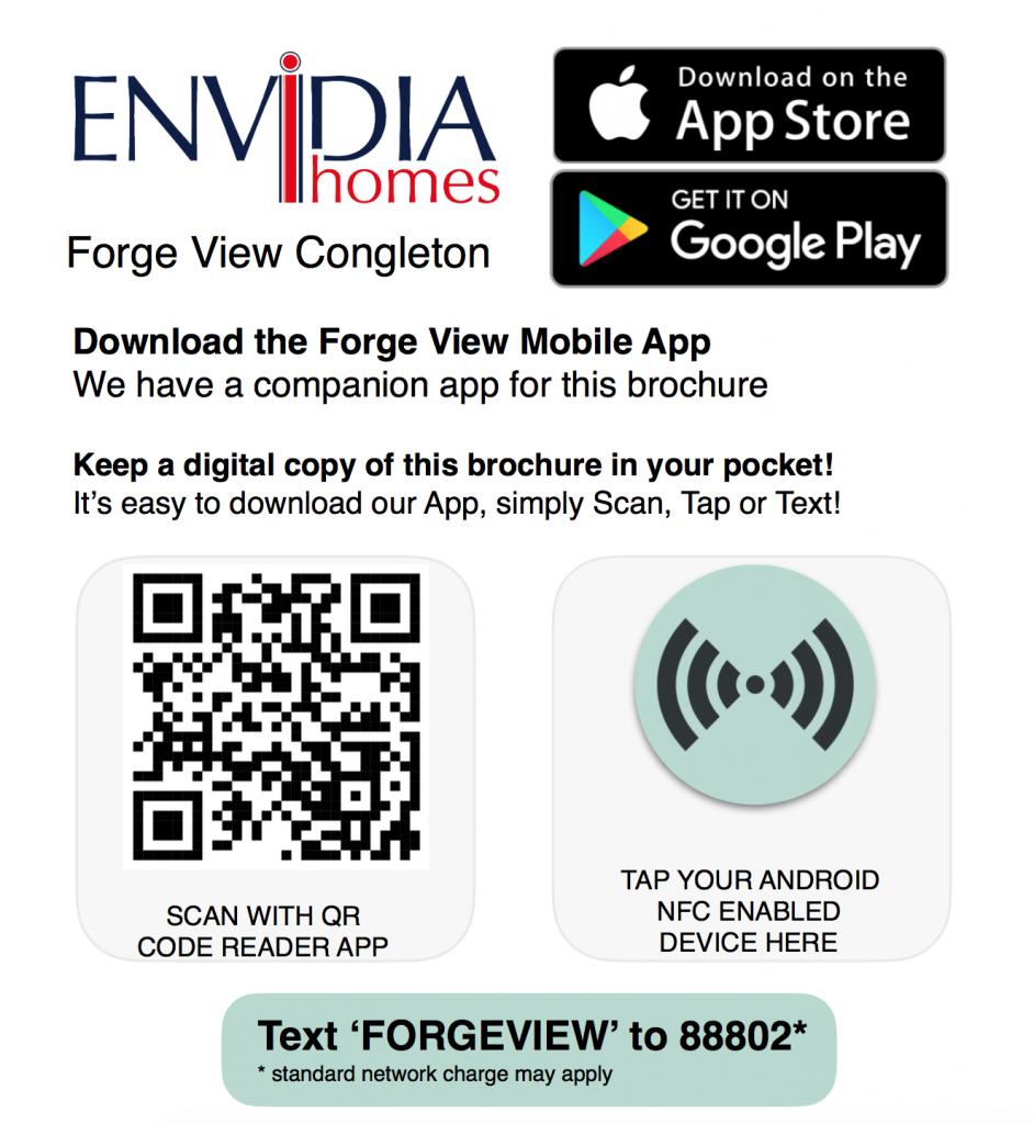 qr code to download the envidia homes app