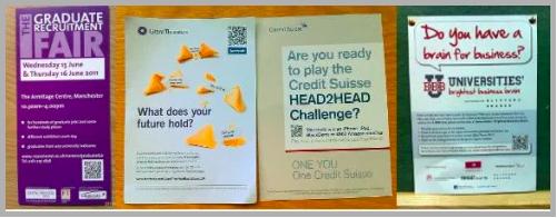 graduate bulletin leaflets with qr codes