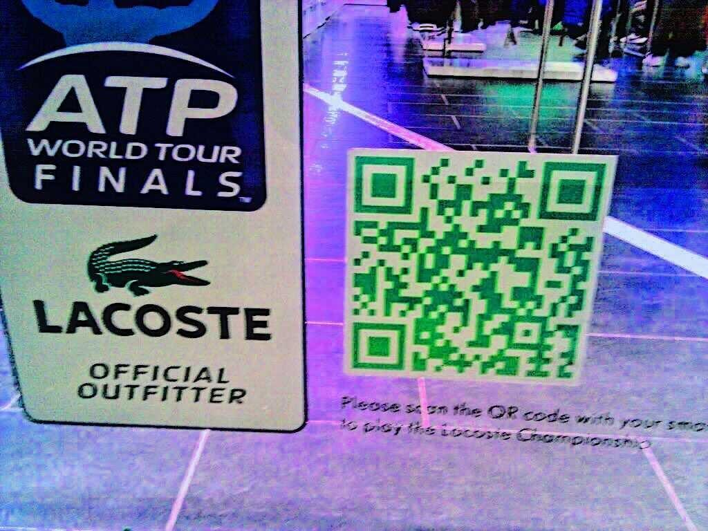 lacoste window qr code sticker