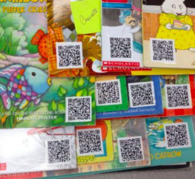 Children's literature with qr codes