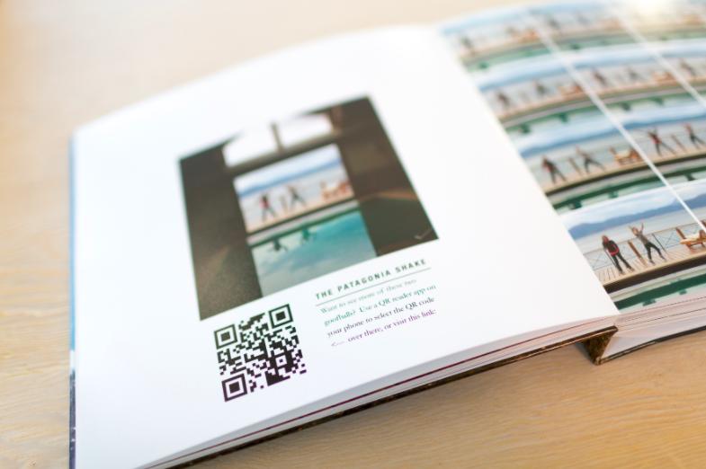 qr code in a photo book