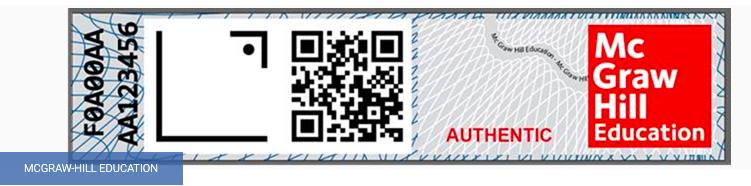 qr code book authentication sticker