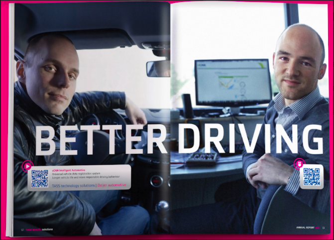 a qr code advertisement for better driving in a magazine