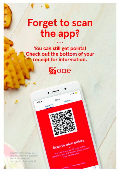 a qr code on a phone to scan to get loyalty points at a restaurant