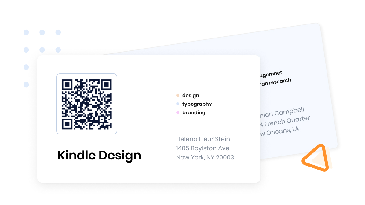 Supercode QR code printed on a business card