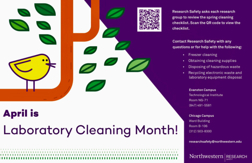 QR code campus twitter post lab cleaning month