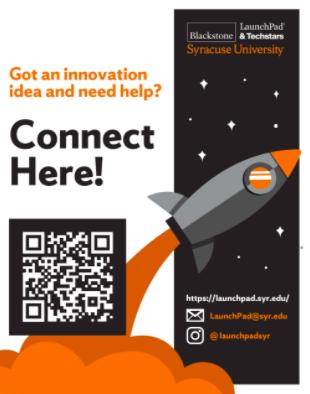 QR code campus launchpad Syracuse university