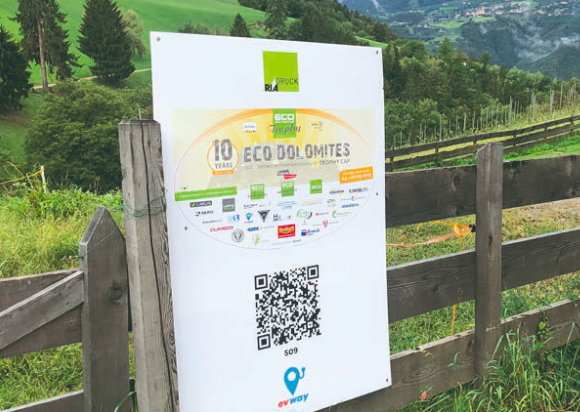 Eco Dolomites QR code poster