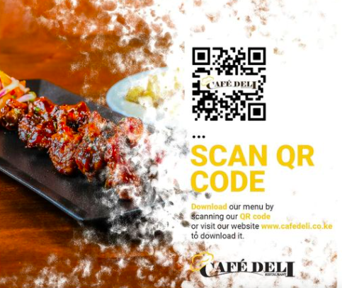 Download QR code menu at Cafe Deli