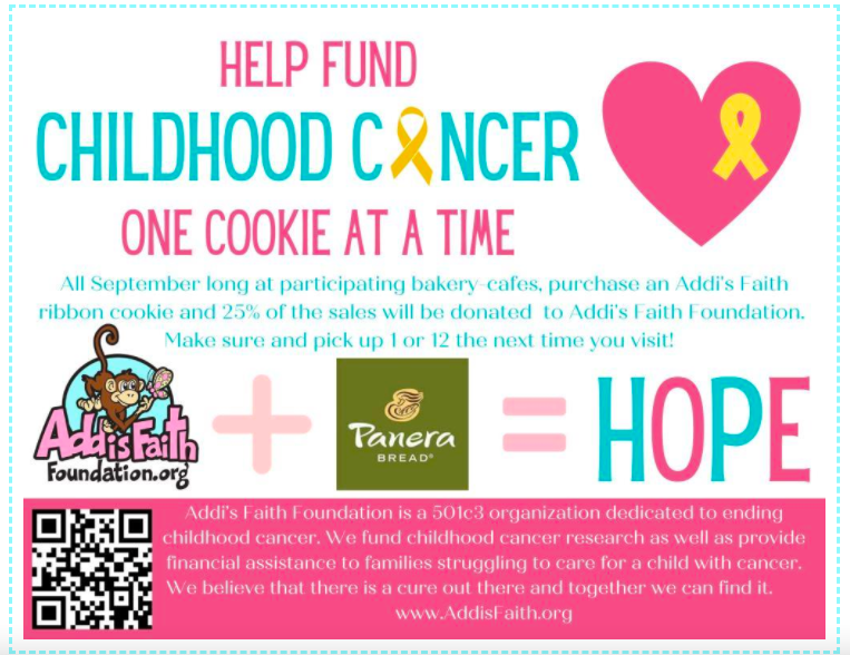 QR code flyer for children cancer charity foundation