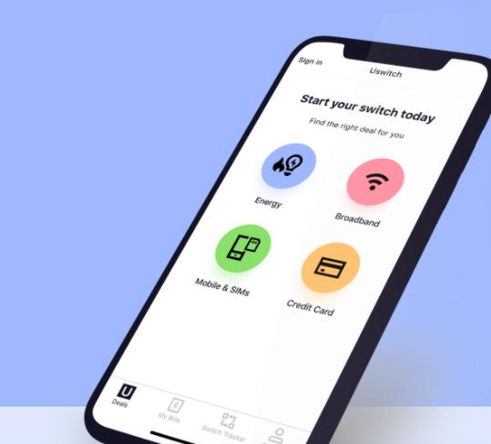 Insurance uswitch app mobile phone screenshot