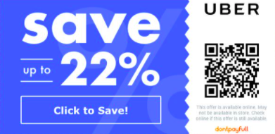 Qr code coupon for uber discount
