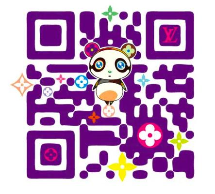 QR code with panda for louis vuitton by Takashi Murakami