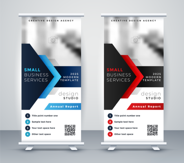 QR codes on banners for trade show