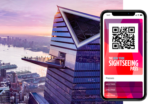 new york sightseeing pass QR code on mobile