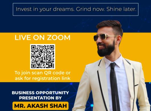 Zoom call event QR code registration advert