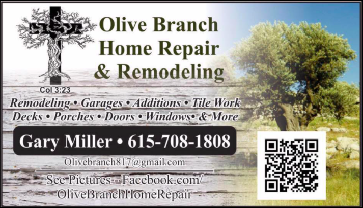 olive branch home repair and remodeling facebook advertisement with qr code