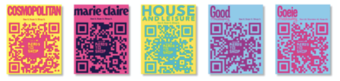 qr code in associated media publishing magazines for ready to shop campaign