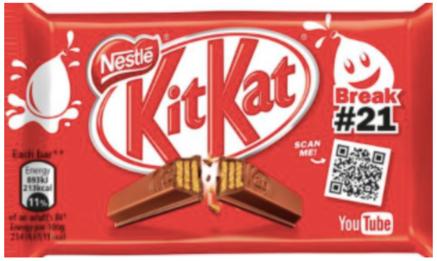 kit kat bar qr code on wrapper
