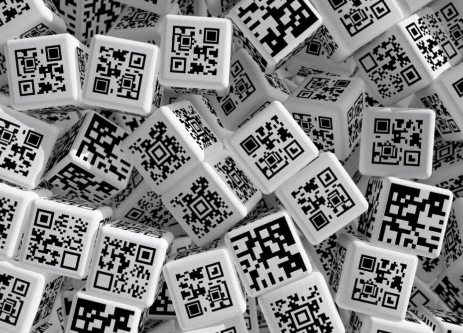 black and white bulk qr codes printed on cubes