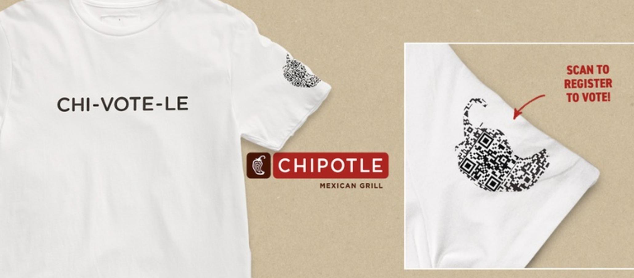 Chipotle T-shirt QR Code