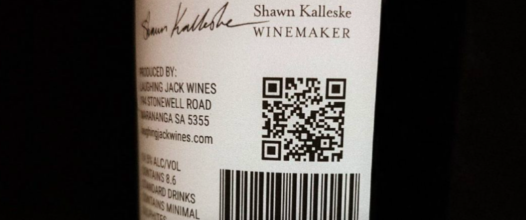 laughing jack wines qr code label