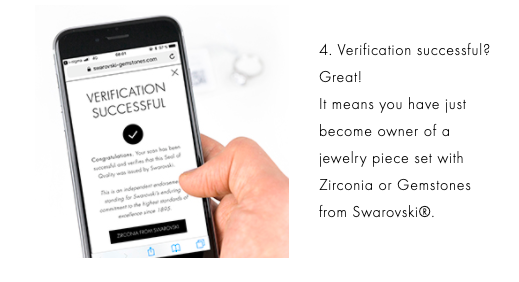 swarovski crystal verification successful on mobile phone