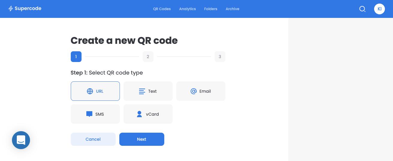 create qr code type supercode